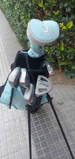 Bolsa de palos y zapatos de golf niño / niña