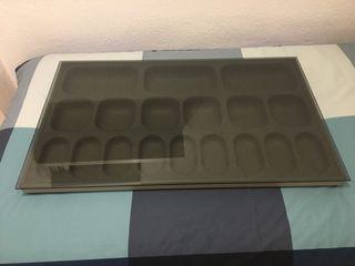 Cajon accesorios y estante cristal de Ikea