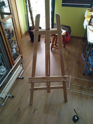 caballete de madera, pintura