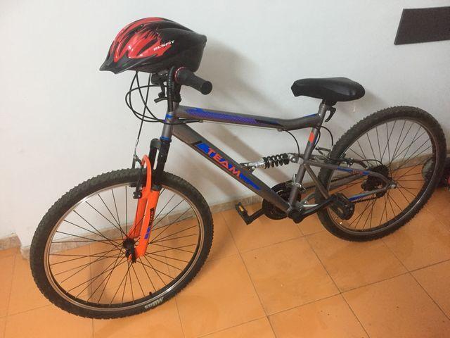 2 Bicis decatlón y asiento niño ,Bici niño 10años