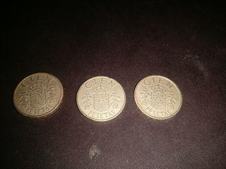 100 pesetas rey juan Carlos 1988 y 1983