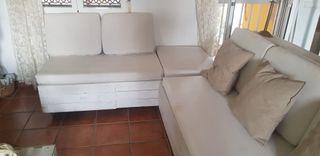 Rinconera sofá de palets
