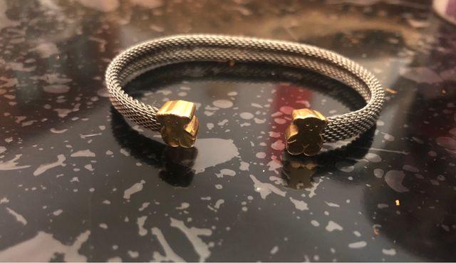 Pulsera esclava Tous De oro y acero