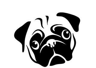 Pegatinas cara bulldog vinilos decorativos mascota