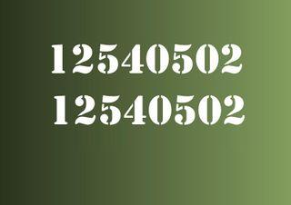 Pegatinas Números vinilos decorativos coches