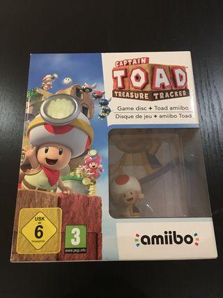 Game disc + Toad Amiibo NUEVO!!!