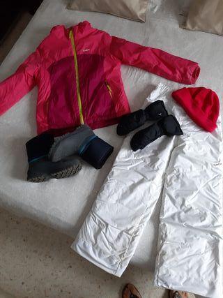 ropa de nieve niña talla 10