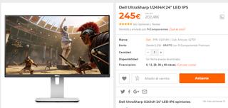 Monitor dell FULL HD 24''