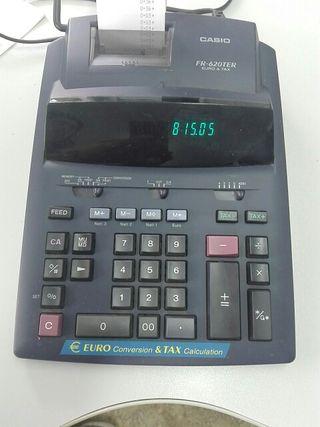Calculadora Casio electrica.