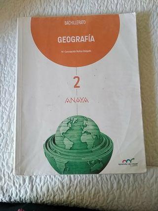 Libro geografía 2° bachillerato Anaya