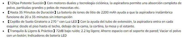Aspirador Escoba sin Cable 12000Pa NUEVO