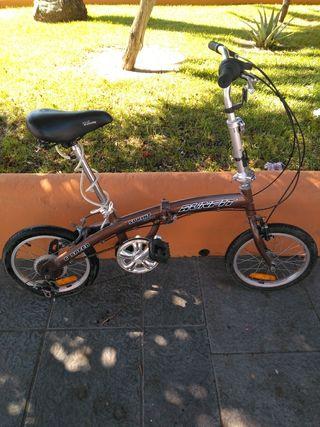 bicicleta plegable runfit sprint aluminio