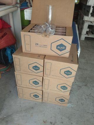 cajas de 24 vasos de tubo a 5€