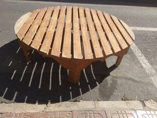 cama de madera redonda