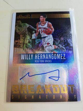 Willy Hernangómez. Cromos NBA