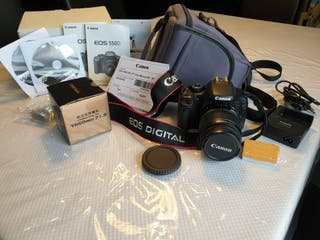 Cámara Canon 550D y objetivos