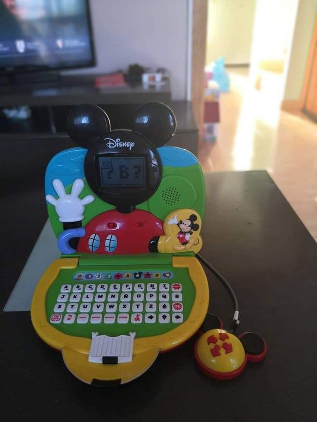 ordenador infantil la casa de mickei mouse