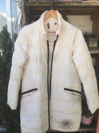 Abrigo de plumas blanco