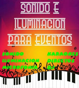 Equipos de Sonido e Iluminacion.