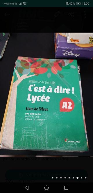 libro de francés de 1 de bachillerato