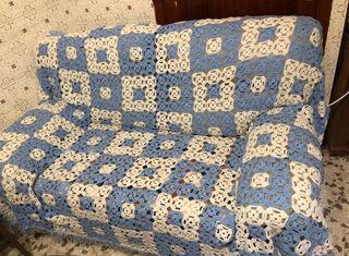 Funda patchwork manta para sofa o cama