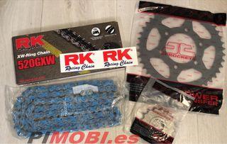 Kit arrastre RK azul súper reforzado Yamaha r1