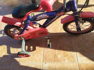 bicicleta para niño siderman
