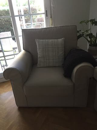 Sofá doble + sillón individual