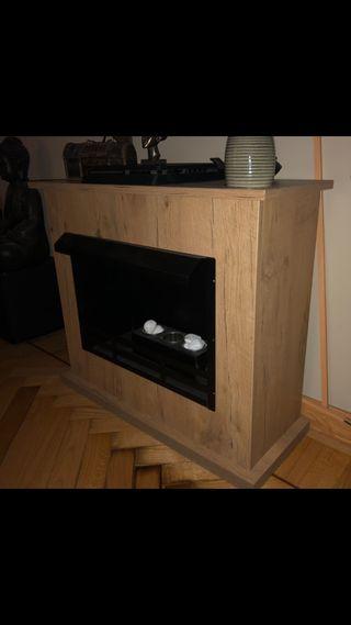 Chimenea bioetanol con mueble