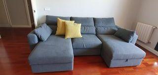 vendo sofa chestlong color gris.