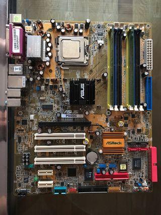 PLACA BASE ASUS P5GDC + PROCESADOR +RAM