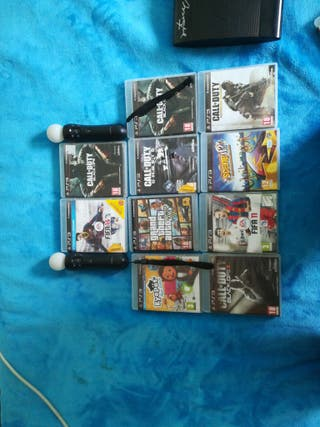 juegos de play 3 y mandos PlayStation move