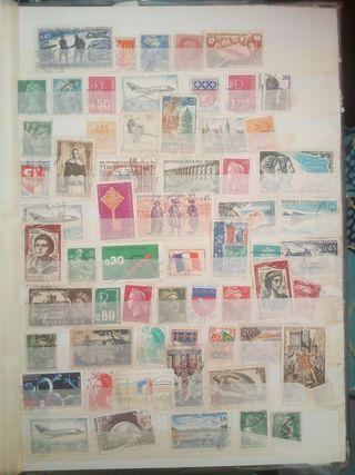 colección de sellos antiguos de todo el mundo