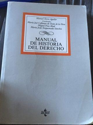 Manual de historia del derecho