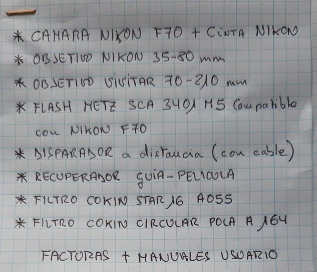 Cámara analógica Nikon+objetivos