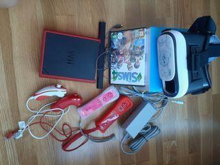 CONSOLA WII mini Nintendo 4 mandos y GRV de regalo