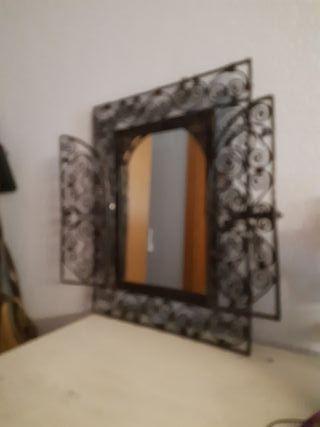 espejo decoración forja