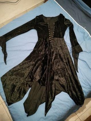 vestido gotico halloween terciopelo t.40 a 46