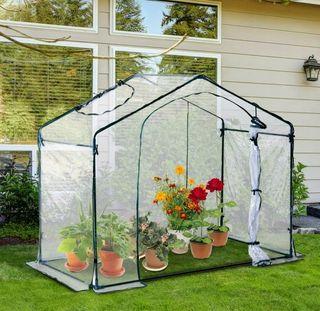 Invernadero transparente plantas NUEVO