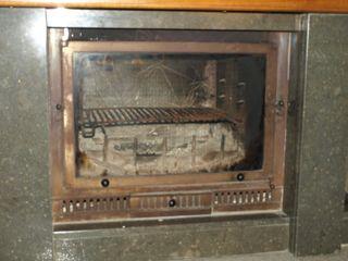 chimenea de fundicion con ventilacion forzada