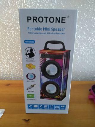 Altavoces portatil reproductor mp3
