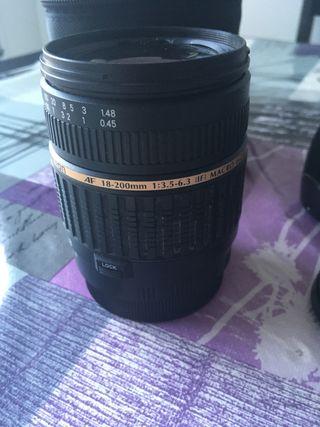 Objetivo Tamron 18-200 para Canon.