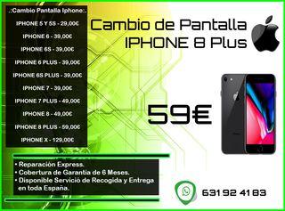 Cambio de Pantalla Iphone 8 Plus Tienda