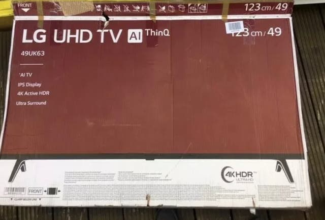 """Lg 49"""" LED TV with broken screen"""