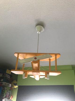 Lámpara de techo Avion madera