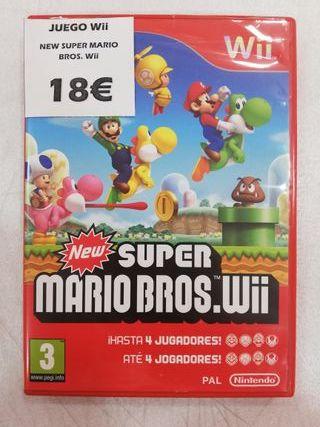 Videojuego Wii New Super Mario Bros. Wii