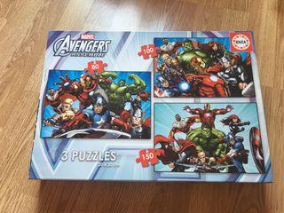 3 puzzles Los Vengadores