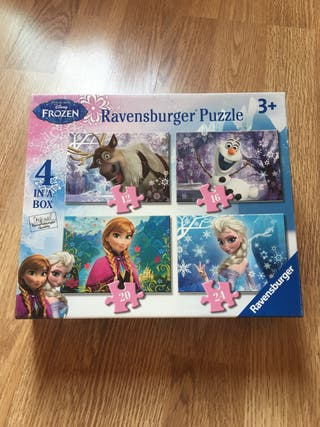 4 puzzles Frozen
