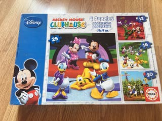4 puzzles La Casa de Mickey Mouse