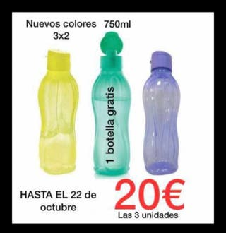 SET 3 BOTELLAS 750 ML TUPPERWARE